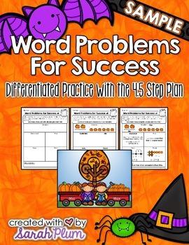 Word Problems For Success - October Sampler