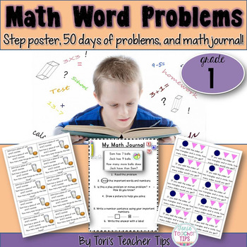 Word Problems GRADE 1~ Set 1 {Common Core Aligned}