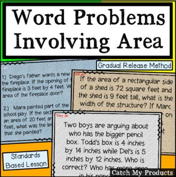 Word Problems Involving Area for Promethean Board (Intelle