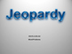 Word Problems Jeopardy Game