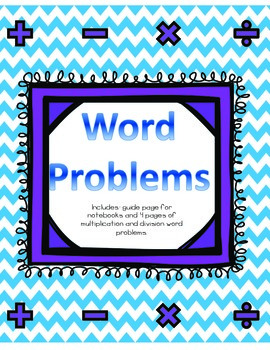 Word Problems- Multiplication and Division