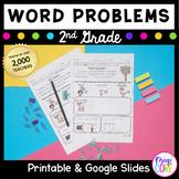 Word Problems Second Grade Common Core 2.OA.A.1, 2.NBT.B.5