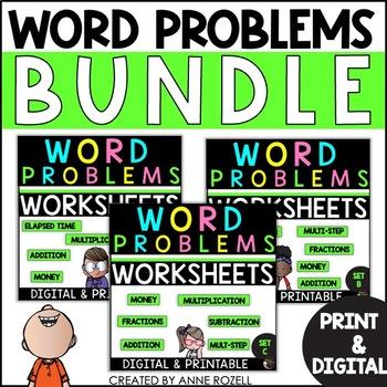 Word Problems-Sets A-C  GROWING BUNDLE