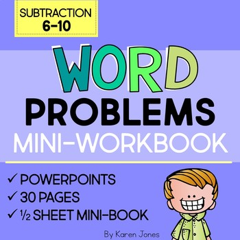Word Problems: Subtraction 6-10 Mini-Workbook