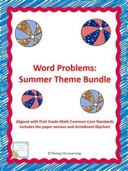 Word Problems: Summer Theme Bundle (First Grade)