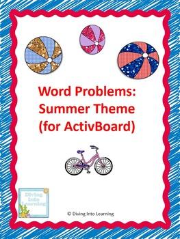 Word Problems: Summer Theme (First Grade)