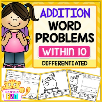 Color by Code Word Problems for Kindergarten