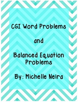 Word Problems and Balanced Equation Problems