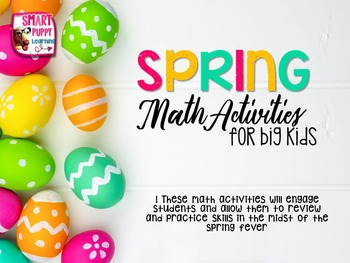 Word Problems and Spring Math Activities
