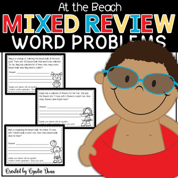 Word Problems for Interactive Notebooks: Mixed Review