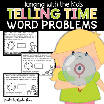 Word Problems for Interactive Notebooks: Time