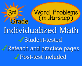 Word Problems, multi-step, 3rd grade - Individualized Math