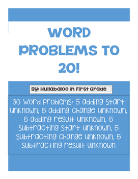 Word Problems to 20