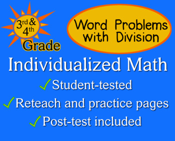 Word Problems with Division, 3rd grade - Individualized Ma
