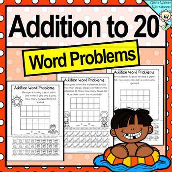 Word Problems with Tens Frames - Addition to 20 - Workshee