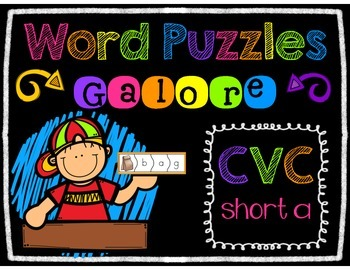 Word Puzzles Galore - SHORT A