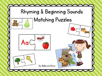 Word Puzzles {Rhyming & Beginning Sounds}