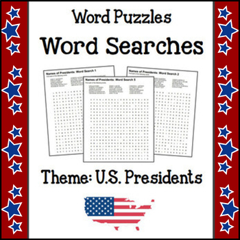 Word Puzzles - Word Search (Theme - U.S. Presidents) 5 NO