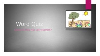 Word Quiz : How was your weekend? Korean