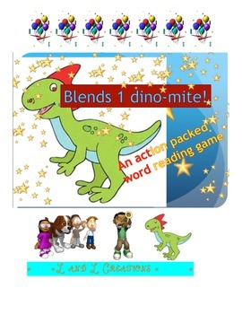 Word Reading Game: Blends 1 dino-mite!