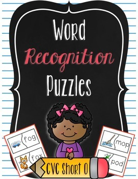 Word Recognition Puzzles - CVC Words Short O