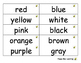 Word Rings for Colours, Shapes, Days of the Week and Month