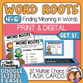 Word Root Task Cards Using Word Pairs