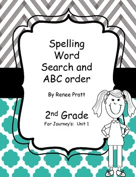 Journey's Second Grade Unit 1 Word Search & ABC Order