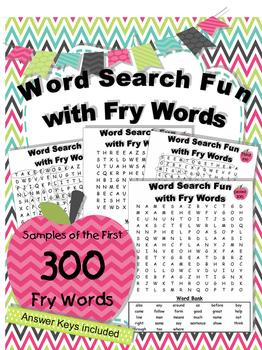 Word Search Fun with Fry Words Sampler