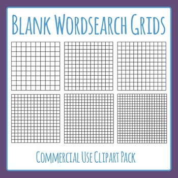 Word Search Grids / Blank Wordsearch Template Grids For Co