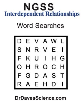 Word Search NGSS Interdependent