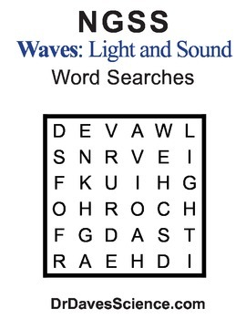 Word Search NGSS Waves