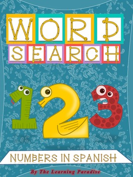 Word Search. Numbers in Spanish- Math. Sopa de Letras- Mat