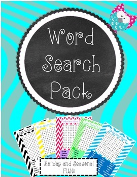 Word Search Pack - Holiday/Seasonal