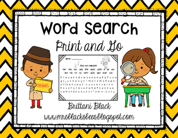 Word Search~ Print and Go
