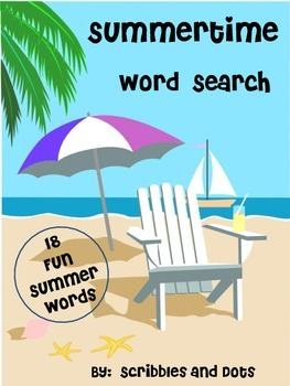 Word Search -- Summertime
