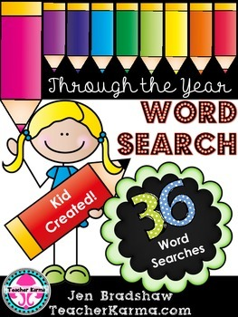 Word Search Kit * STUDENT CREATED * Spelling * Vocabulary