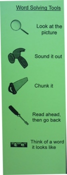 Word Solving Tools Bookmark - First Grade