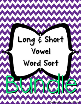 Word Sort Bundle {All Long & Short Vowels}