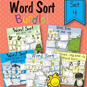 Word Sort Bundle Set 4  2nd Grade