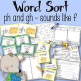 Word Sort Consonant Digraphs gh and ph Horace and Morris R