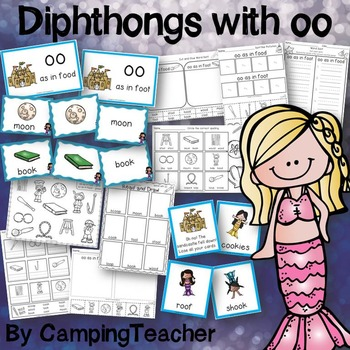 Word Sort Diphthongs oo with No Prep Printables and Game
