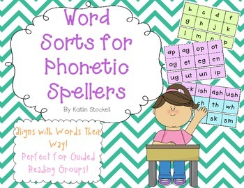 Word Sort Spinner Fun for Literacy Stations!