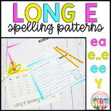 Long *E* spelling pattern (ee, ea, e_e) Worksheets