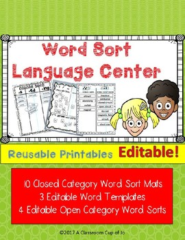 Word Sort Maps for Spelling, Vocabulary & Comprehension  (