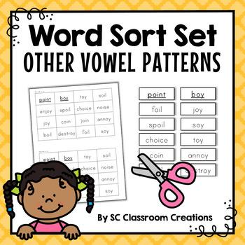 Vowel Teams & Vowel Pattern Word Sort Set