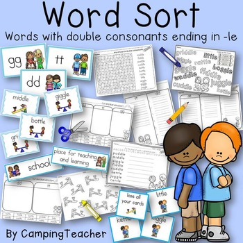 Word Sort with Double Consonants and -le at the end Story