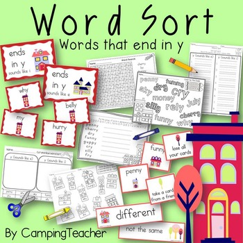 Word Sort with words that end in y Story At Home Around the World