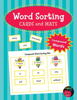 Word Sorting Cards and Mats: Compound Words