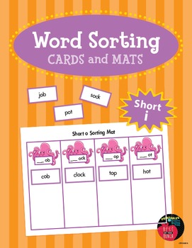 Word Sorting Cards and Mats: Short o